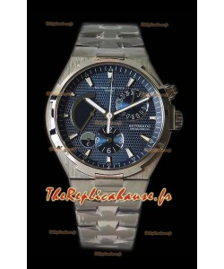 Vacheron Constantin Overseas Dual Time montre suisse réplique en acier en cadran blanc