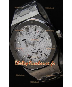 Audemars Piguet Royal Oak Dual Time Montre Réplique Suisse  cadran blanc