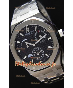 Audemars Piguet Royal Oak Dual Time Montre Réplique Suisse  cadran noir