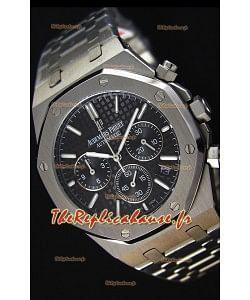 Montre Audemars Piguet Royal Oak Suisse réplique à chronographe en quartz avec un cadran noir -41mm