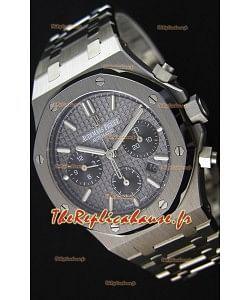 Montre Audemars Piguet Royal Oak Suisse Répliquée à Chronographe avec Cadran Gris ardoise et un Bracelet d'acier