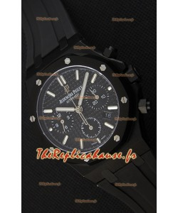 Montre Audemars Piguet Royal Oak Suisse à Chronographe avec Cadran Noir Réplique