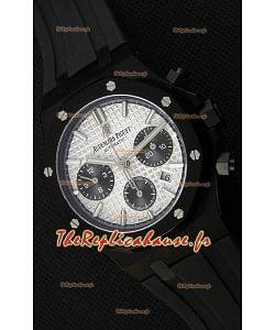 Montre Audemars Piguet Royal Oak Suisse à Chronographe Cadran argenté et Sous-Cadran noir Réplique