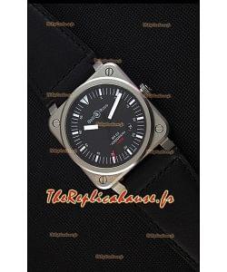 Montre Bell & RossBR03-92 Suisse Cadran noir Bracelet en cuir Réplique à l'identique 1:1