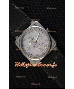 Montre Bell & RossBR03-92 Suisse Cadran gris Bracelet en cuir Réplique à l'identique 1:1