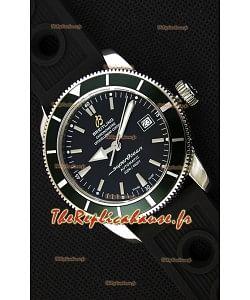 Montre Breitling SuperOcean HeritageII B20 42mm Suisse cadran noir Lunette verte Réplique à l'identique - 1:1 Édition miroir