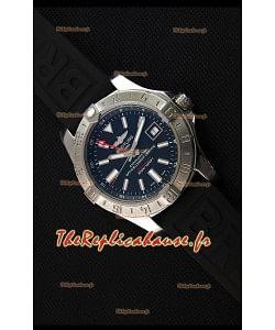 Breitling Avenger II GMT Montre Réplique Suisse 1:1 Miroir En cadran noir