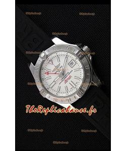 Breitling Avenger II GMT Montre Réplique Suisse 1:1 Miroir en Cadran Blanc