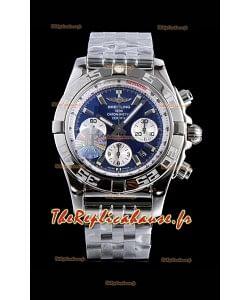 Chronomètre Breitling B01 Cadran bleu 904L Acier Réplique de montre suisse à miroir 1:1