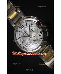 Boitier en Or Jaune Deux Tons Ballon De Cartier Chronographe - 1:1 Replica Miroir