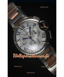 Boitier en Or Rose Deux Tons Ballon De Cartier Chronographe - 1:1 Replica Miroir