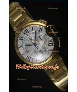 Boitier en Or Jaune Ballon De Cartier Chronographe - 1:1 Replica Miroir