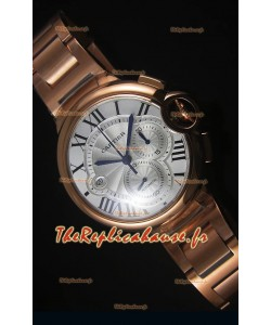 Boitier en Or Rose Ballon De Cartier Chronographe - 1:1 Replica Miroir