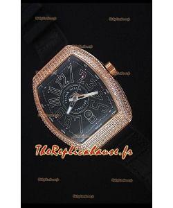 Franck Muller Vanguard Or Montre Réplique Suisse En cadran noir