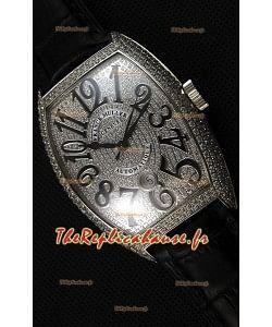 Montre Franck Muller Casablanca Automatique 8880 Répliquée à l'identique 1:1 Version Ultime avec des Diamants