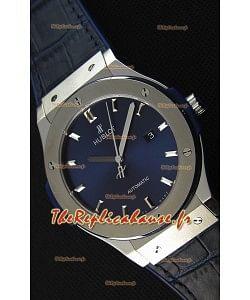 Montre Hublot Classic Fusion Bleu Suisse en Titane Réplique à l'identique 1:1