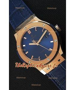 Montre Hublot Classic Fusion Blue King Gold Suisse Réplique à l'identique 1:1