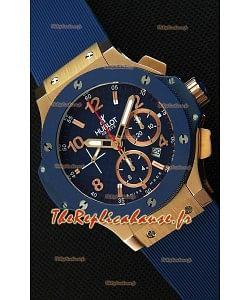 Montre Hublot Big Bang Blue Suisse avec boîtier rose or Réplique à l'identique 1:1