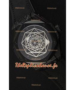 Hublot Big Bang Sang Bleu 45MM Revêtement PVD Noir Montre Réplique Suisse