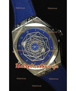 Hublot Big Bang Sang Bleu 45MM Acier Inoxydable cadran bleu  Montre Réplique Suisse