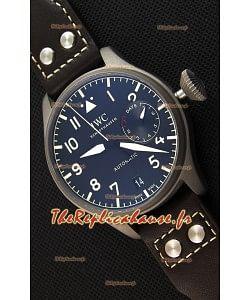 Montre IWC Big Pilot'sIW501004 Heritage Titane Suisse Réplique.  Réserve de batterie fonctionnelle. Répliquée à l'identique 1:1