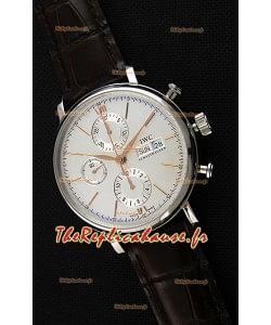 IWC Portofino chronographe IW391022 Cadran Blanc 1:1 Montre Réplique Miroir