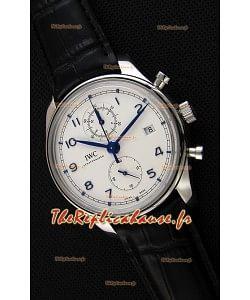 IWC Portugieser chronographe Classic IW390302 Cadran Blanc Montre Réplique Suisse