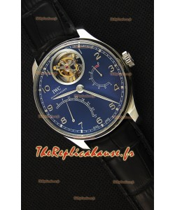 IWC Portugieser Tourbillon Mystere Retrograde cadran bleu UPDATED 2019 Version