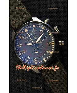 IWC Pilot's Montre chronographe Top Gun Miramar IW389002 Cadran céramique anthracite 1:1 Miroir Réplique