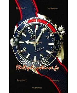 Omega Seamaster Planet Ocean Pyeong Chang 2018 Édition Montre Réplique Suisse 1:1 Miroir