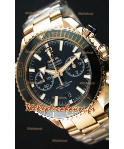 Omega Seamaster Planet Ocean 600M chronographe Montre Réplique 1:1 Miroir  Or Rose
