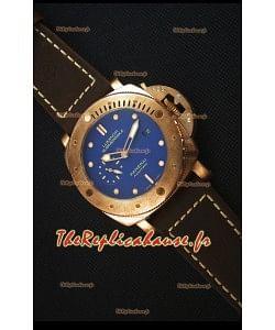 Panerai PAM617T Bronzo Montre Réplique - Edition Ultime Réplique Actualisé - Cadran Bleu