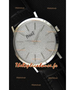 Montre Piaget AltiplanoG0A36128 Suisse à Quartz avec Cadran diamant pavé Boîtier en acier Réplique