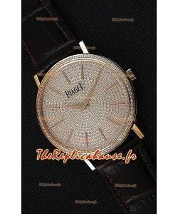 Montre Piaget AltiplanoG0A36128 Suisse à Quartz avec Cadran diamant pavé Boîtier Rose Or Réplique