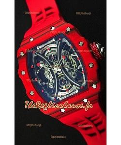 Richard Mille RM53-01 Pablo Mac Donough Boîtier Carbone Rouge Montre Réplique Suisse