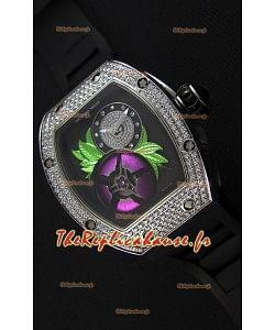 Montre Richard Mille19-02 Tourbillon Fleur Suisse Boîtier en acier inoxydable Répliquée