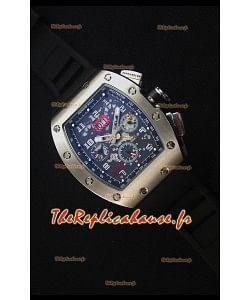 Richard Mille RM011 Montre Réplique Japonaise en Acier Inoxydable