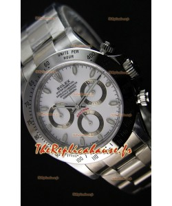 Montre Rolex Cosmograph Daytona 116520 Cadran Blanc Mouvement OriginalCal.4130 — Montre en acier ultime 904L