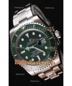 Montre Rolex Submariner Ref#116610LV The Hulk Swiss Répliquée à l'identique 1:1 Mirror — Montre ultime en acier904L