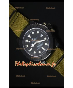 Reproduction de Montre Suisse Rolex Submariner Stealth MKIV PVD