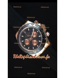 Rolex Daytona 116515 Everose Montre Réplique Miroir 1: 1 avec Cadran Blanc
