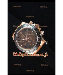 Rolex Daytona 116515 Everose Montre Réplique Miroir 1: 1 en Or Rose avec Cadran brun