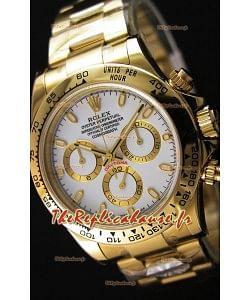Rolex Cosmograph Daytona 116508 Or Jaune Mouvement Original Cal.4130- Montre Amélioré Ultime Acier 904L