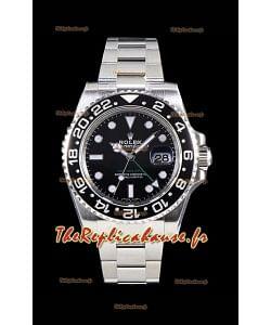 Rolex GMT Master II 116710LN Lunette en céramique Cal.3186 Mouvement Réplique Suisse - Ultime montre en acier 904L
