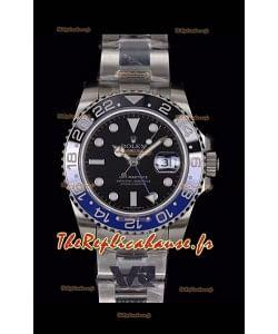Rolex GMT Masters II 126710BLNR Batman Cal.3186 Mouvement Réplique Suisse - Montre Ultimate 904L en acier