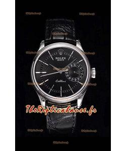 Rolex Cellini Date Ref#50519 Réplique 1:1 Miroir 904L Montre en acier cadran noir