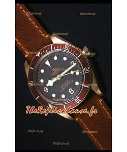 Montre Replica Suisse Tudor Heritage Bay en Bronze avec Bracelet en Cuir