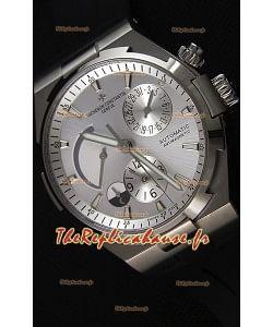 Vacheron Constantin Overseas Dual Time Acier Cadran Blanc Montre Réplique Suisse