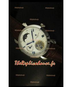 Montre à mouvement japonais tourbillon Vacheron Constantin Phases de la lune