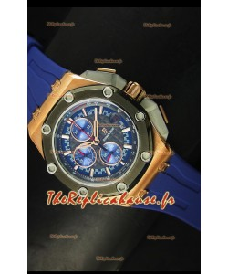 Montre Royal Oak Offshore Michael Schumacher Audemars Piguet avec lunette en céramique et or rose
